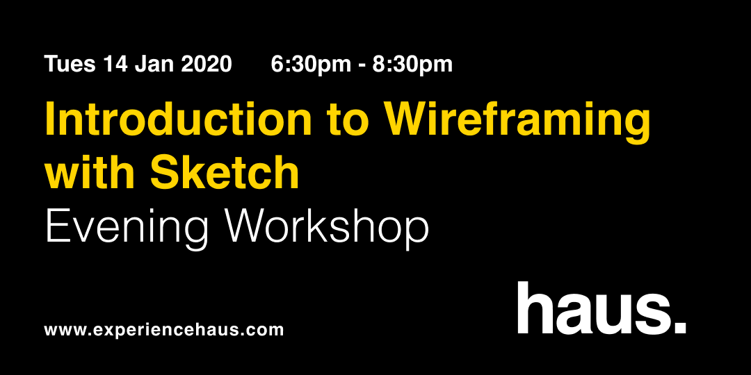wireframing with sketch experience haus