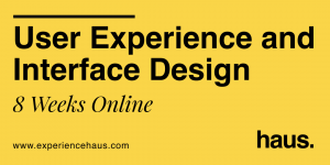 User experience and interface design course cover