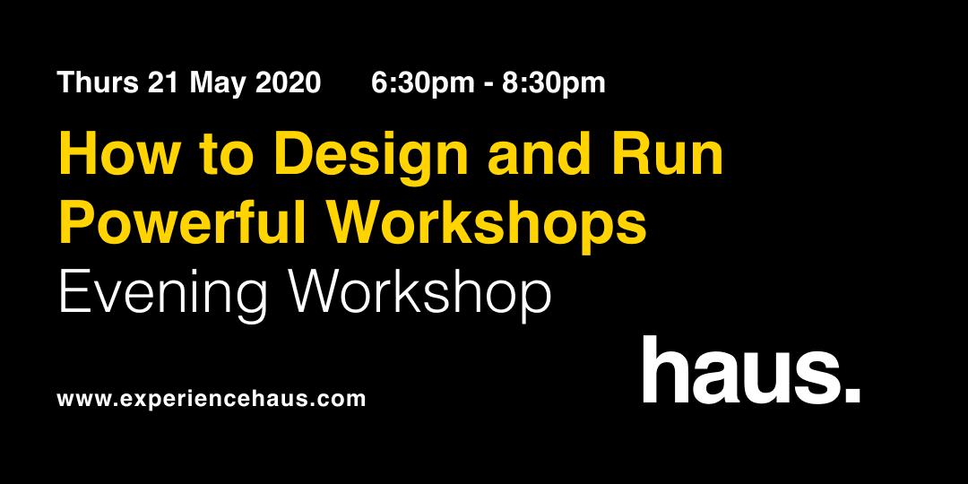 how to design workshops