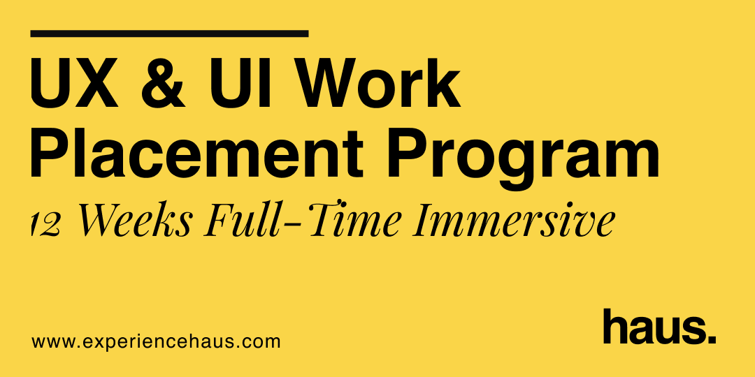 User experience and interface design work placement program course cover